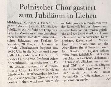 2017 05 15 Neue Presse (Bad Vilbel)