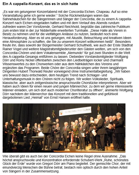 Ein A cappella-Konzert, das es in sich hatte
